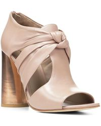 Donald J Pliner - Bailey Leather Peep Toe Booties - Lyst