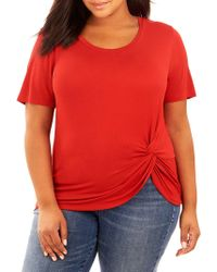 REBEL WILSON X ANGELS - Plus Rouched Jersey T-shirt - Lyst