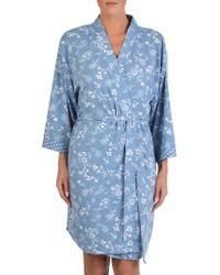 Claudel - Printed Short Robe - Lyst