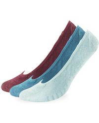 Sperry Top-Sider - Three-pair Padded Micro Liner Socks - Lyst
