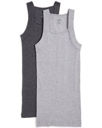 2xist - Two-pack Ribbed Cotton Tank Top - Lyst