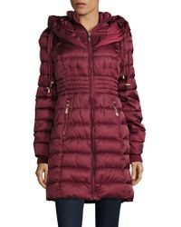 Betsey Johnson - Long Puffer Coat - Lyst