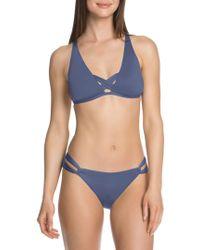 SOLUNA - Cross Back Halter Bikini Top - Lyst
