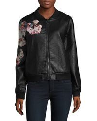 Joe's Jeans | Forest Faux Leather Bomber Jacket | Lyst