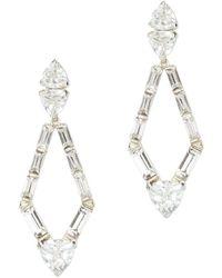 Vince Camuto - Silvertone & Crystal Kite Drop Earrings - Lyst