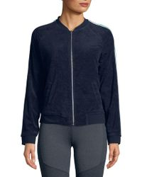 Marc New York - Striped Terry Bomber Jacket - Lyst