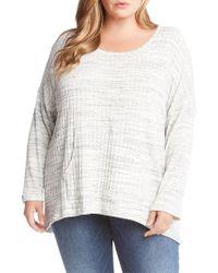Karen Kane - Plus Ribbed Roundneck Sweater - Lyst