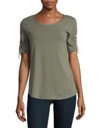 Jones New York - Short Sleeve Cinched Top - Lyst