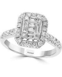 Effy - Classique 14k White Gold & Diamond Ring - Lyst