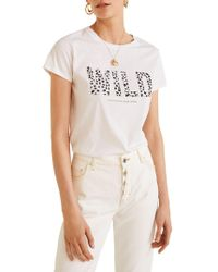 Mango - Ilustra Three Cotton Tee - Lyst