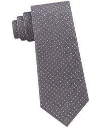 03d199181925 Michael Kors Narrow Striped Silk Tie in Blue for Men - Lyst