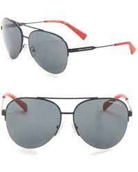 955765013a8e Lyst - Armani Exchange Wayfarer Sunglasses in Black for Men