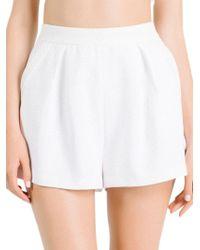 Kendall + Kylie - Mesh High-rise Shorts - Lyst