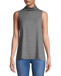 Kensie - Striped Sleeveless Turtleneck - Lyst
