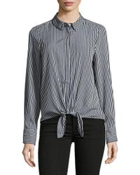 Vero Moda - Dotted Long-sleeve Top - Lyst