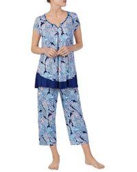 Ellen Tracy - Paisley Pyjama Top - Lyst