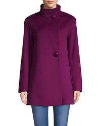Fleurette - Two-button Stand-collar Loro Piana Wool Coat - Lyst