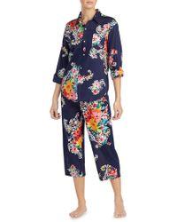 Lauren by Ralph Lauren - Floral-print Pyjamas - Lyst