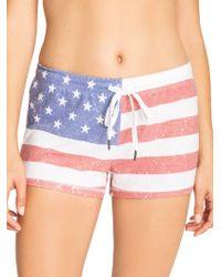 Pj Salvage - Usa Flag Shorts (red) Women's Pajama - Lyst
