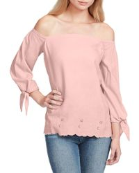 Jessica Simpson - Plus Off-the-shoulder Ruffle Top - Lyst