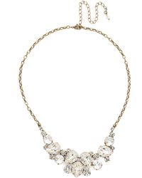 Sorrelli - Core Nested Pear Statement Crystal Necklace - Lyst