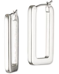 Ralph Lauren - Silver Hoop Earrings - Lyst