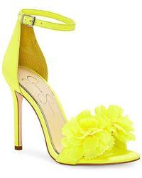 Jessica Simpson - Jeena Satin Ankle-strap Sandals - Lyst