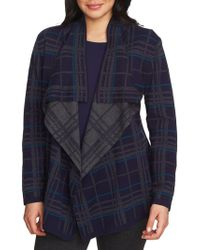 Chaus - Plaid Open Cardigan - Lyst