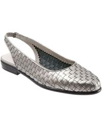 Trotters - Lucy Leather Slingback Flats - Lyst