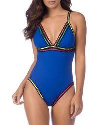 La Blanca - Grossgrain Ribbon Trimmed One-piece Swimsuit - Lyst