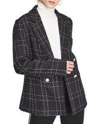 Miss Selfridge - Checkered Double-breasted Blazer - Lyst