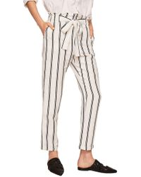 Mango - Self-tie Paper Trousers - Lyst