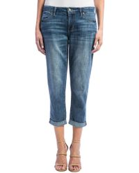 Liverpool Jeans - Cameron Cropped Boyfriend Jeans - Lyst