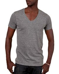 Alternative Apparel - Boss V-neck T-shirt - Lyst