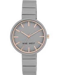 Nine West - Grey Dial Analog Rubber Bracelet Watch - Lyst