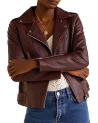 Mango - Perfect Leather Biker Jacket - Lyst