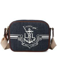 e3f09d04cf Lauren by Ralph Lauren - Anchor Denim Camera Bag - Lyst