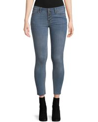 Free People - Button Fly Skinny Jeans - Lyst