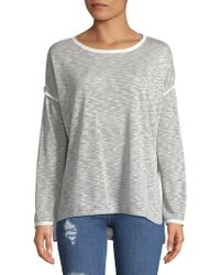 Jones New York - Scoopneck Drop-shoulder Sweater - Lyst