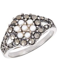 Lord + Taylor Faux Pearl And Rhinestone Ring - Metallic