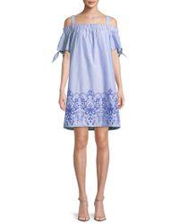 Jones New York - Off-the-shoulder Cotton Dress - Lyst