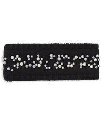 Echo - Embellished Faux Fur Knit Headband - Lyst