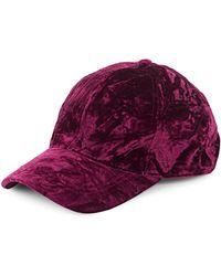 Collection 18 - Crushed Velvet Baseball Cap - Lyst