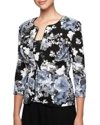Alex Evenings - Two-piece Floral Jacket And Camisole - Lyst