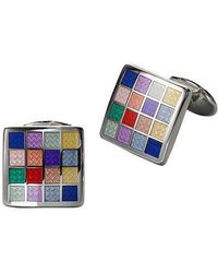 David Donahue - Multicolored Chequered Cuff Links - Lyst