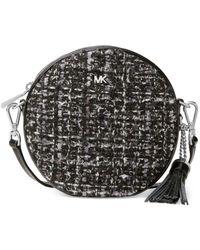 05deed6a0dec Michael Michael Kors Leather Double Zip Crossbody in Brown - Lyst