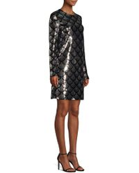 bf4a9a670cc MICHAEL Michael Kors Studded Sweater Dress Petite in Black - Lyst