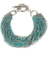 Kenneth Cole - Aqua Chain Crystal Multi-row Chain Bracelet - Lyst