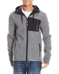 Bench - Knitted Drawstring Hoodie - Lyst