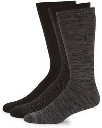 Polo Ralph Lauren - Three-pack Patterned Socks - Lyst